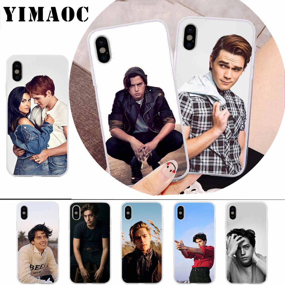 YIMAOC American TV Riverdale Cole Sprouse Soft Silicone Case for iPhone X r s Xr Xs Max 8 7 6S 6 Plus 5 5s SE