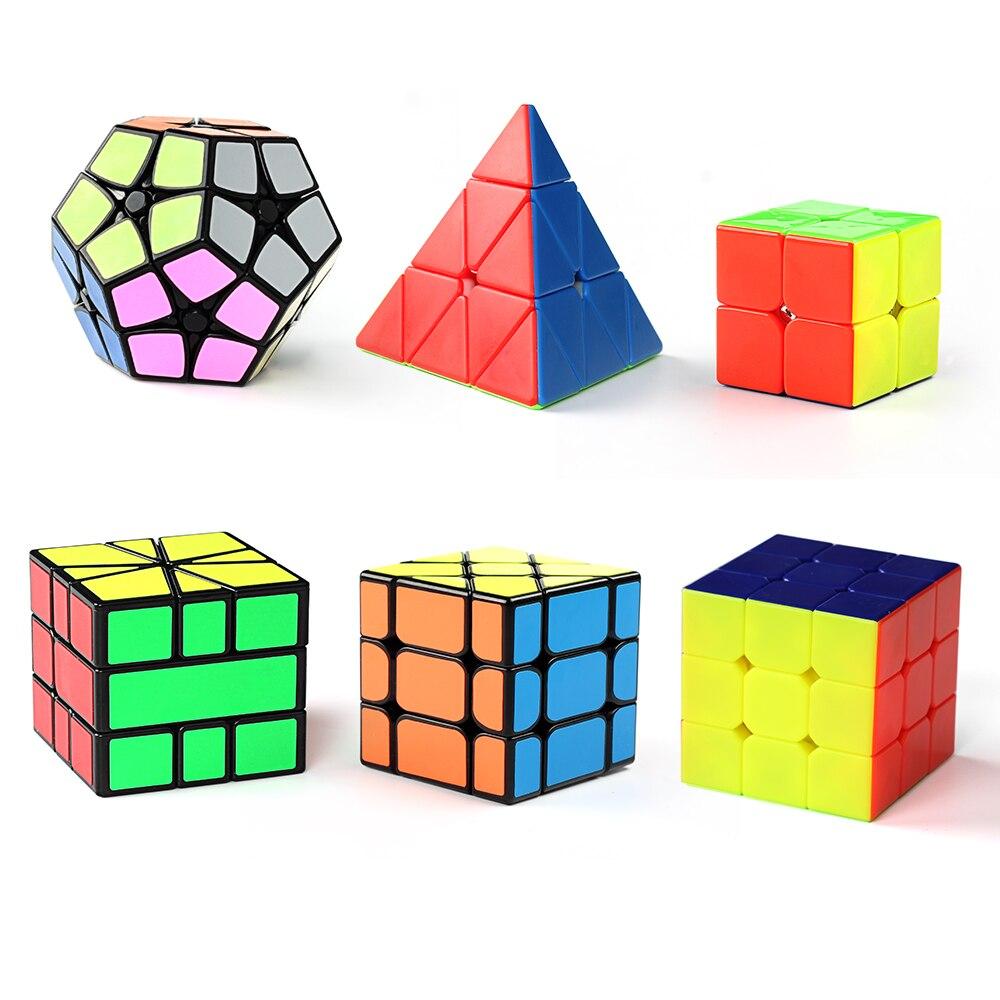 D-fantix jeu de cubes de vitesse Cyclone garçons 2x2 3x3 pyramide sans bâton Qiyi Ivy Shengshou 2x2 Dodecahedron Fisher Cube Puzzles jouets