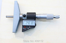 Wholesale free shipping  0-25mm Digital Depth Micrometer caliper gauge  resolution 0.001mm