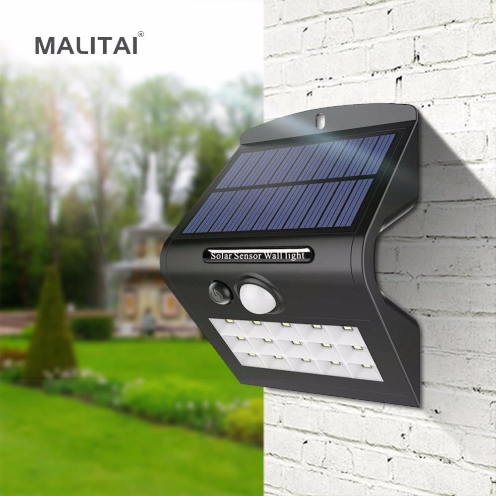 Solar Charge Led Night Light Outdoor Wall Garden Light Pir