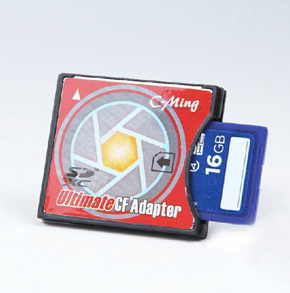 MicroSD/TF para Compact Flash Tipo I CF Leitor de Cartão, o apoio TF Cartão de até 32 GB, pacakge varejo