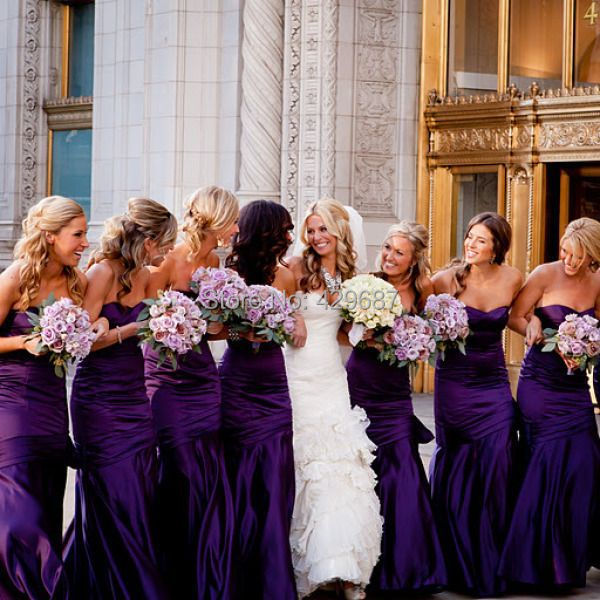 Online Get Cheap Deep Purple Bridesmaid Dresses -Aliexpress.com ...