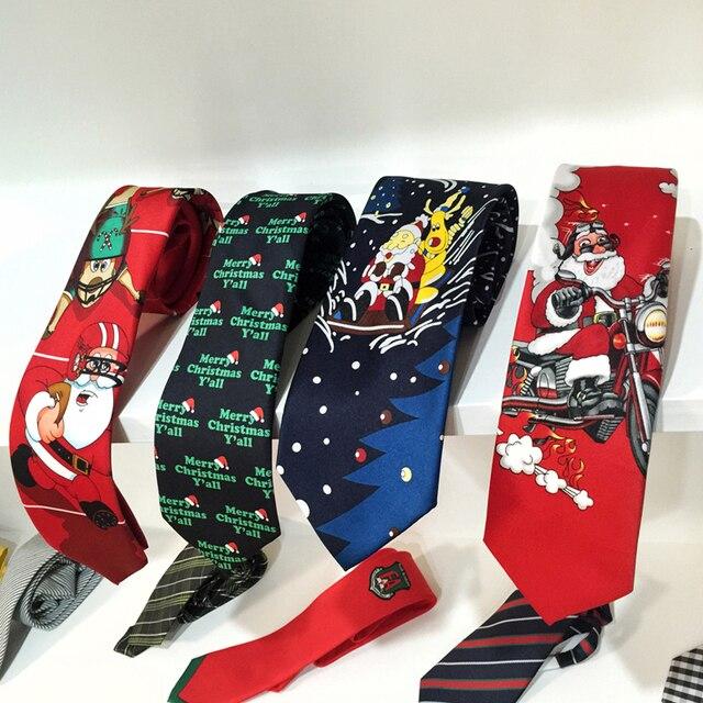 christmas ties for men 8cm designer printed snowman animal tree 2018