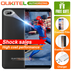Oukitel C11 5.5 inch 18:9 Smartphone Android 8.1 1GB+8GB MTK6580A Quad Core 5MP+2MP/2MP Fingerprint 3400mAh Mobile Phone