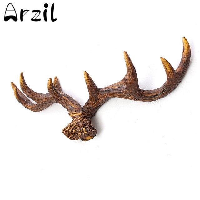 Vintage Resin Deer Antler Rack Crafts Home Decorative Wall Hat Coat ...