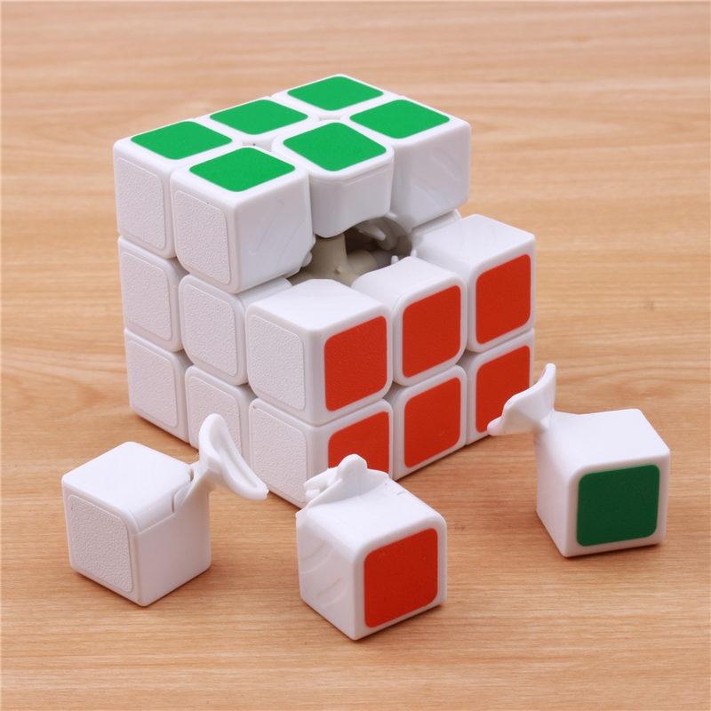 Klassik oyuncaqlar Cube3x3x3 PVC Etiket Bloku Puzzle Sehrli Sürət - Bulmacalar - Fotoqrafiya 2