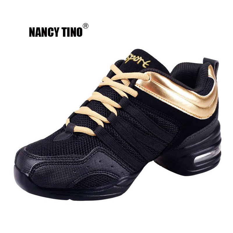 NANCY TINO Sports Feature Soft bottom Breathable Dance Shoes Sneakers For Woman Practice Modern Jazz