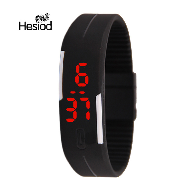 Fashion Digital Watch LED Watch Casual Sport Electronic Wrist Watch Kids Men Sof