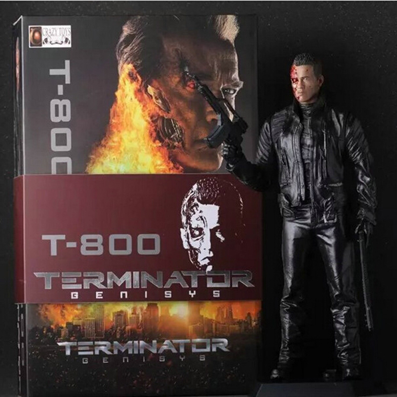 Crazy Toys The Terminator 2 T-800 Arnold Schwarzenegger PVC Action Figure Collectible Model Toy 12 30cm new 1333cm pvc american film terminator t 800 arnold schwarzenegger doll action figure adult model toy