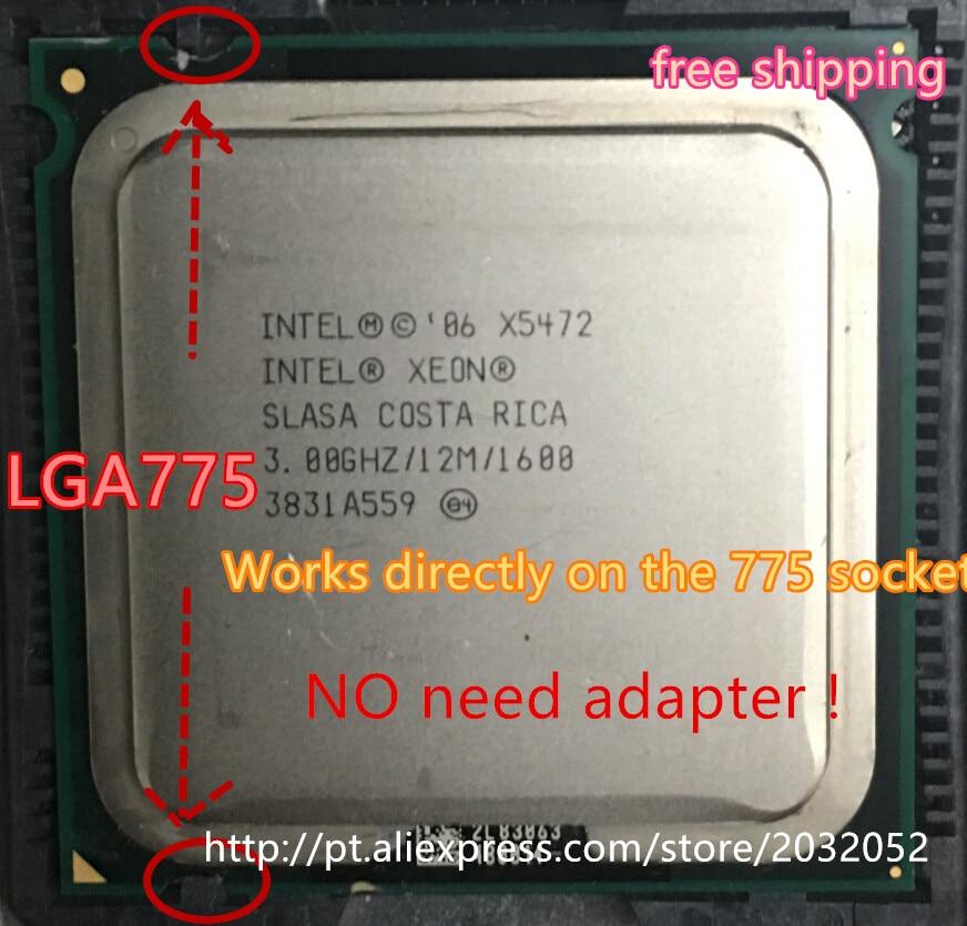 Intel Xeon X5472 Processor(3.0GHz/12M/1600MHz)equal To LGA775 Core 2 Quad Q9650 CPU (LGA 775 Mainboard No Need Adapter)
