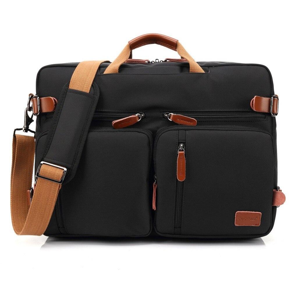 Bolso del negocio maletín mochila Convertible mochila 15 17 17,3 pulgadas portátil mensajero del hombro del ordenador portátil caso