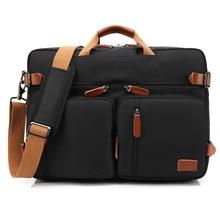 Сумочка Бизнес Портфели рюкзак трансформер рюкзак сумка для ноутбука 15 17 17,3 дюймов Тетрадь мешок плеча чехол для ноутбука