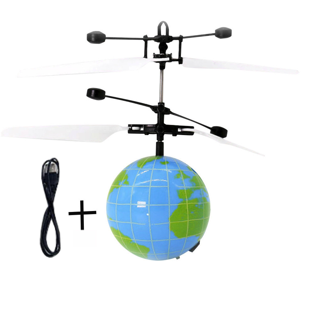 2018 New Cartoon Fashion Induction RC Flying Ball Drone Helicopter Ball Built in Shinning LED font