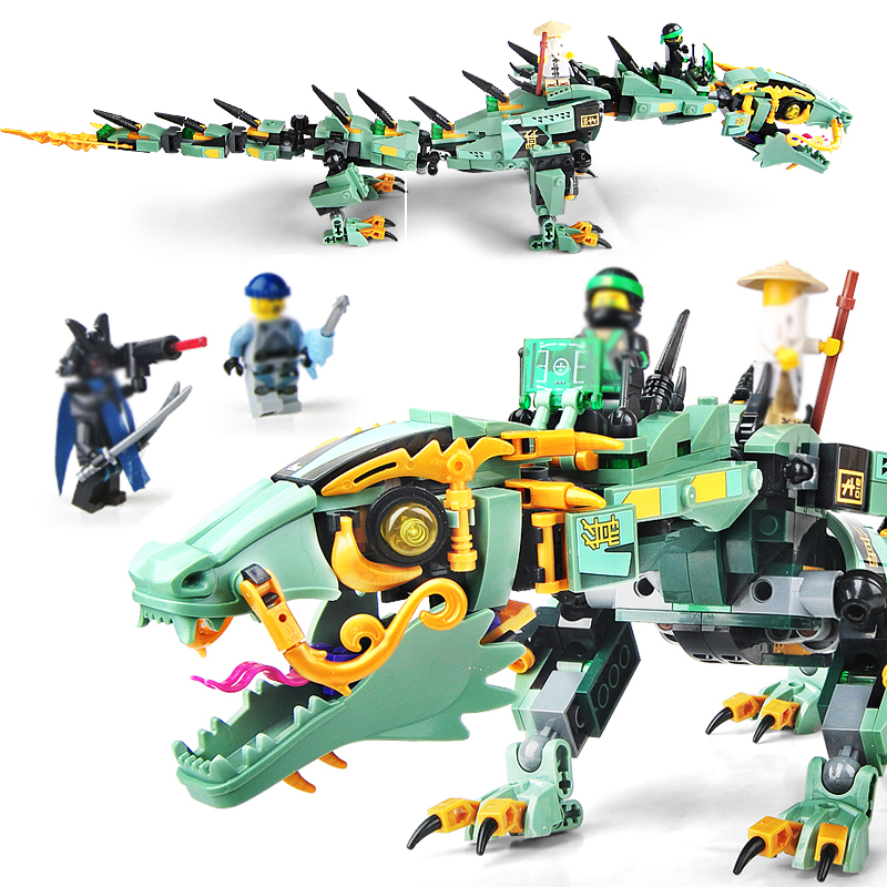 592pcs Movie Series Flying mecha dragon Building Blocks Bricks Toys legoings Children 70612 Gifts Compatible LEPIN Ninjagoings hc9009 1650pcs pikachu cartoon movie series without original box building blocks diamond bricks toys compatible with loz