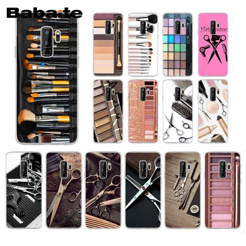 Babaite Naked Palette Mode Glam Make-Up Tool Haar Telefoon Geval Voor Samsung Galaxy S20 S7 S10 Plus S10E S10Lite S6 s9 S8 Plus