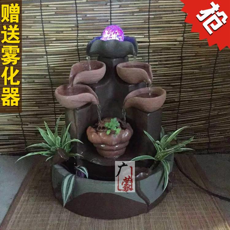 feng shui fuente de agua bonsai loto ronda muebles muebles para el hogar oficina acuario decoracin
