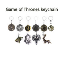 a1337bf21a59 14 Styles Game of Thrones Keychain A Song of Ice and Fire Dragon Key Chain  House Stark Targaryen Wolf Keyring Men Jewelry