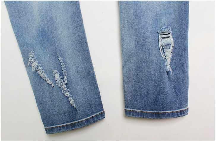 CatonATOZ 2126 женские вышитые цветочные джинсы сексуальные рваные эластичные джинсовые брюки женские узкие брюки джинсы для женщин