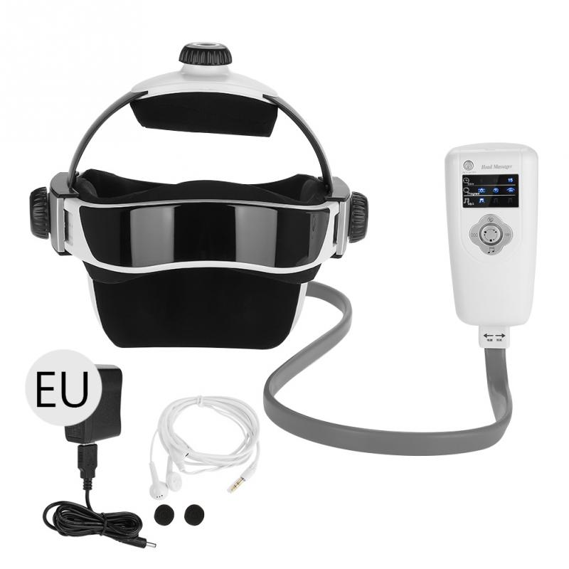 все цены на Electric Head Massager Pressure Vibration Helmet Body Relax Massager Acupuncture Health Care EU Plug онлайн