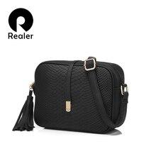 Realer сумка-мессенджер молнии, маленькая через кисточкой плечо ретро женская цветов сумка