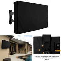 Outdoor TV Dust Cover Black Screen LCD TV Water Resistant Dust Protect Bag Outdoor TV Cover 24 3238 42 48 52 5560inch