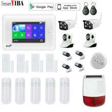 SmartYIBA офис 3G Wi-Fi сигнализации системы наборы Беспроводной ЖК дисплей сенсор движения для дома безопасности IOS Android управление