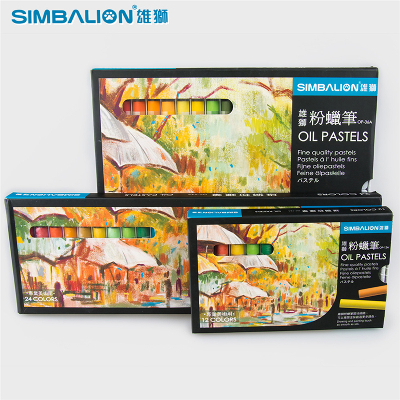 12/24/36 Colors/Set Oil Pastel for Artist Children Drawing Tool Professional Crayons Art School Supplies Simbalion