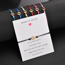 Popular accessories Alloy World Map Bracelet Blessing Cards Hand Strap Jewelry Wholesale