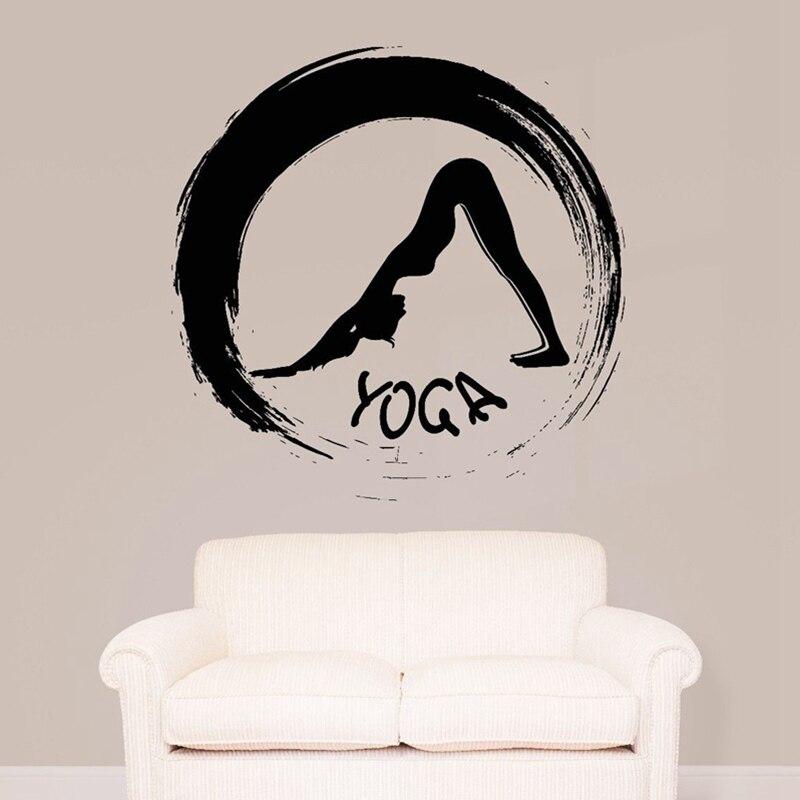 Buddha Quotes Namaste Wall Decals Yoga Mandala Wall Stickers Living Rooms DIY Home Decor YogaDecoration