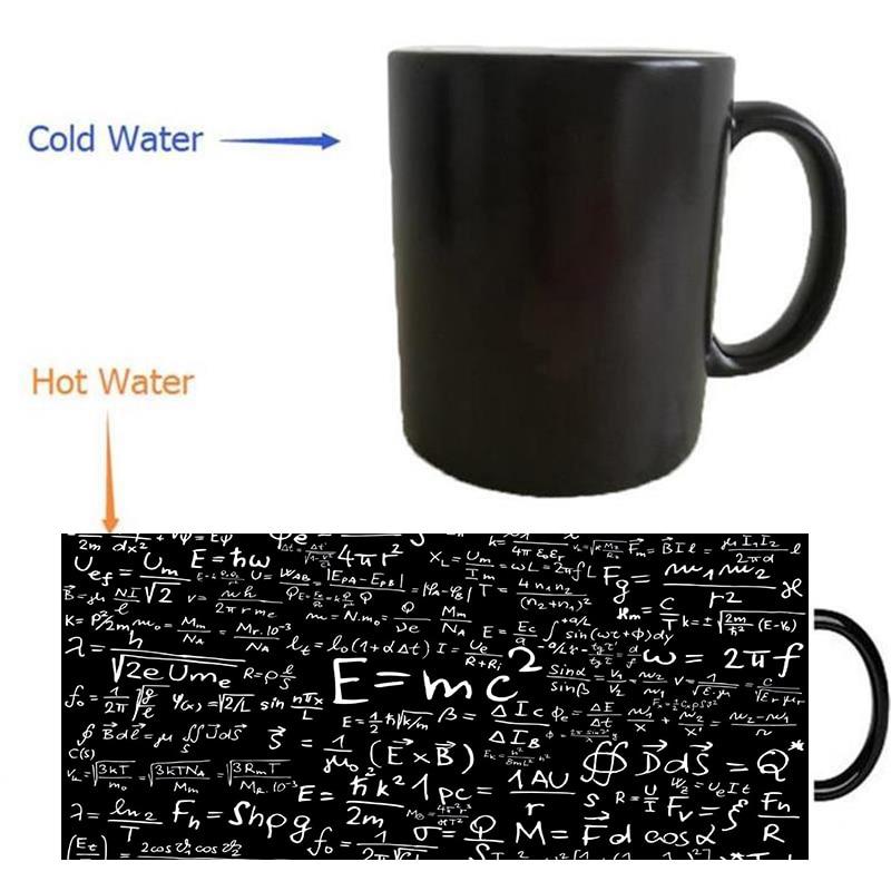 science Albert Einstein mug magic mugs coffee mug heat reveal Heat sensitive mugs changing color wine