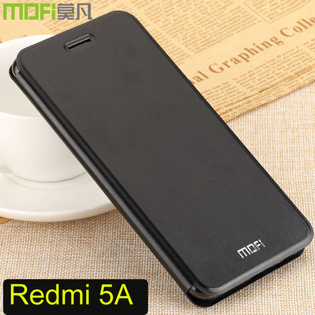low priced b2bdc e6d6f US $11.85 |xiaomi redmi 5a case flip cover Mofi full protect soft tpu 5.0