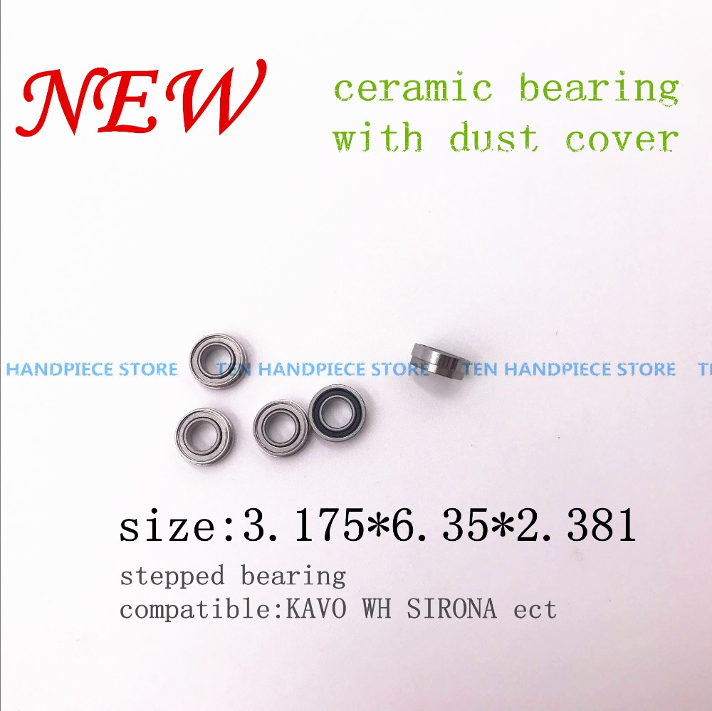 2018 New KAVO Compatible Handpiece Bearing Dental Bearings Ceramic Balls With Dust Cover 5pcs Stepped Bearing 3.175*6.35*2.381