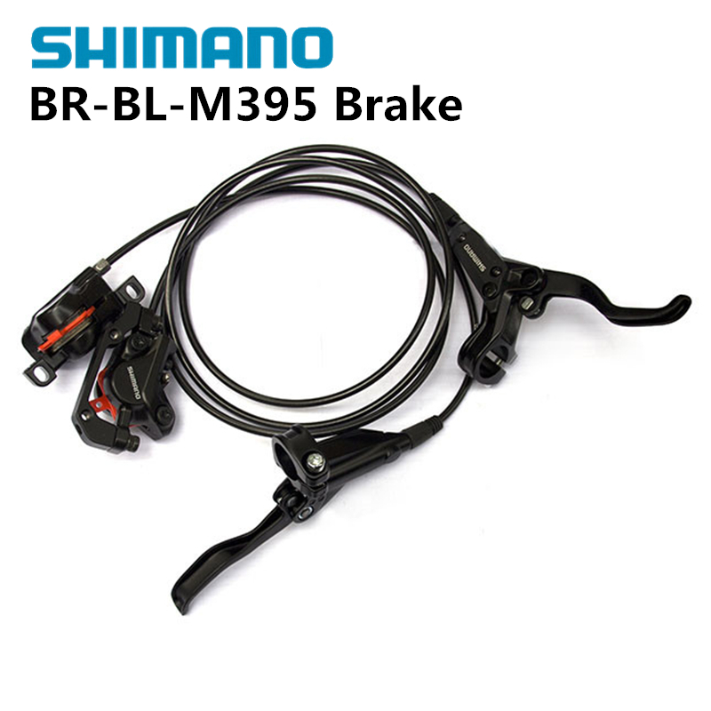 SHIMANO BR-BL-M395 M395 Hydraulic MTB Mountain Bike Bicycle Disc Brake Set Front & Rear Calipers Left & Right Levers + Bolts 2016 new shimano m4050 hydraulic brake intergrate with 3x9s 27s shift lever mtb mountain bike calipers left