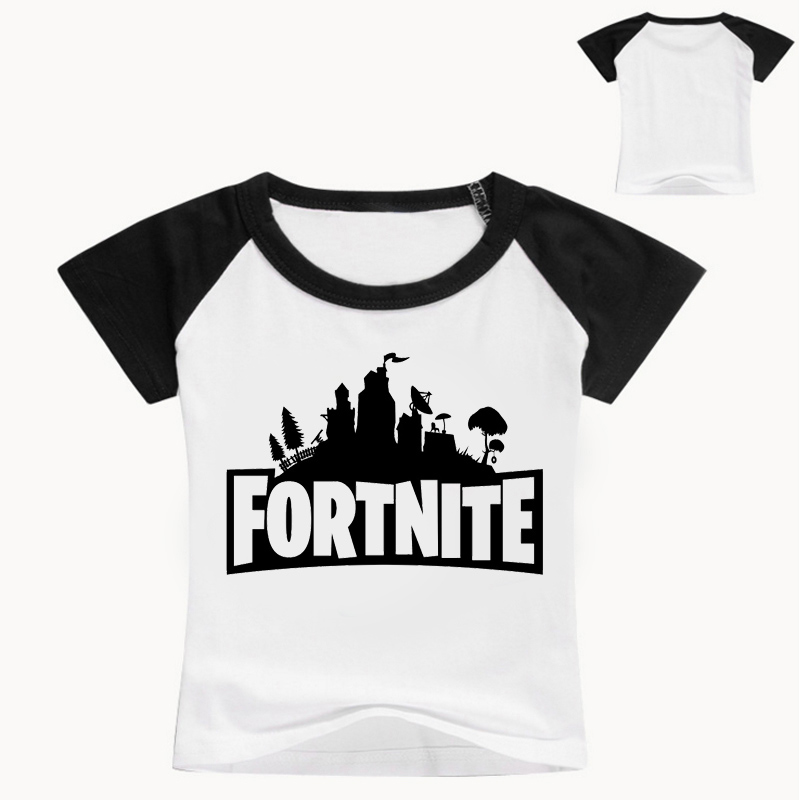 Summer Cotton T Shirts Fortnite Legend Gaming Pattern Tops Baby Girls Boys Casual T-shir ...