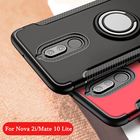 Case For Huawei Mate 10 Lite Nova 2i Cases Hard PC+Soft silicone Combo Magnetic Ring armor Cover For huawei nova 2 plus cases