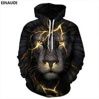 New Sale Animal Style 3d Sweatshirts Men Women Pullovers Gold Lion Hoodies Jellyfish 3d Sunglasses Cat