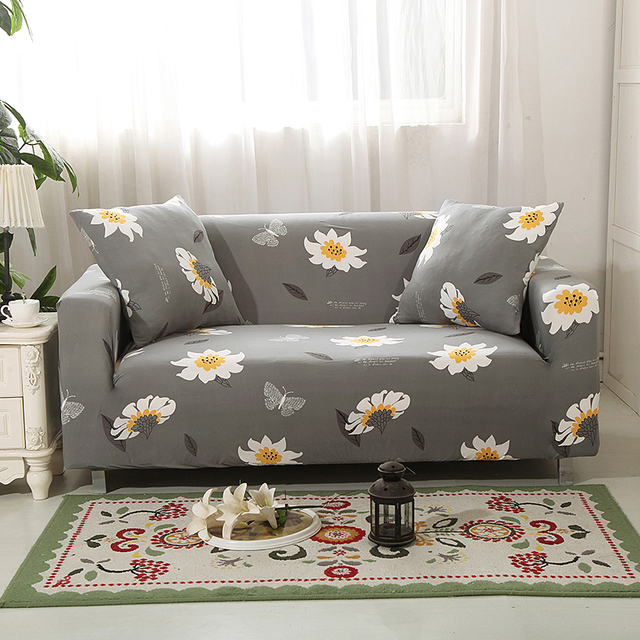 Stretch Slipcovers Sofa Cover For Living Room Slip-resistant Sectional Elastic Couch Cover Sofa Towel Single/Two/Three/Four Seat 2
