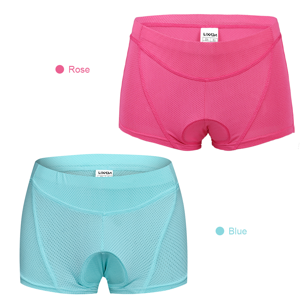 Lixada Women Cycling Underwear Gel 3D Padded Bike Bicycle Shorts Underpants Cycling Shorts in Cycling Shorts from Sports Entertainment