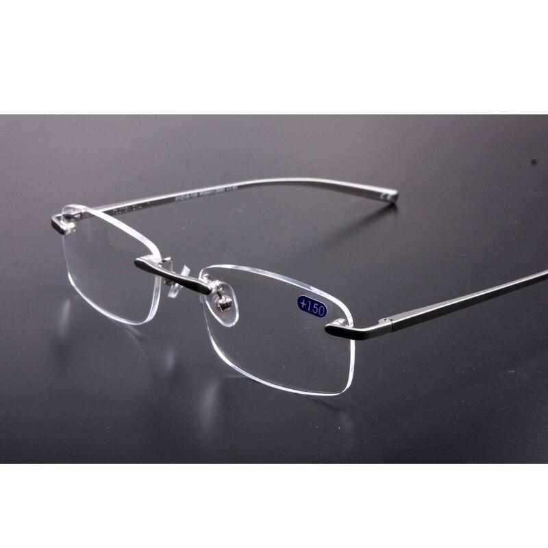 Are Frameless Glasses In Style 2016 : 2016 New Rimless Reading Glasses Women Men HD Lens Round ...