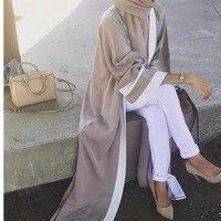 2018 Adult Casual Fashion Striped Musulmane Turkish Dubai Muslim Abaya Dress Cardigan Robes Arab Prayer Worship