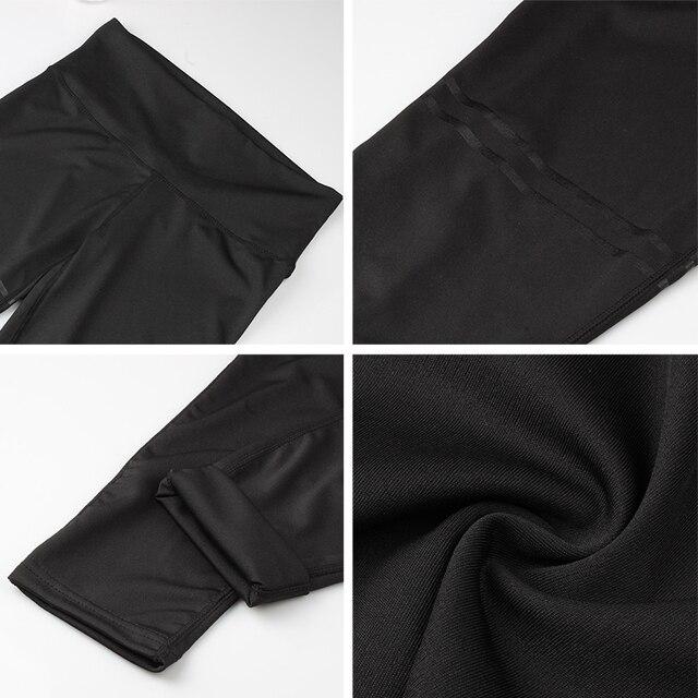 NORMOV Activewear High Waist Fitness Leggings Women Pants Fashion Patchwork Workout Legging Stretch Slim Sportswear Jeggings 5