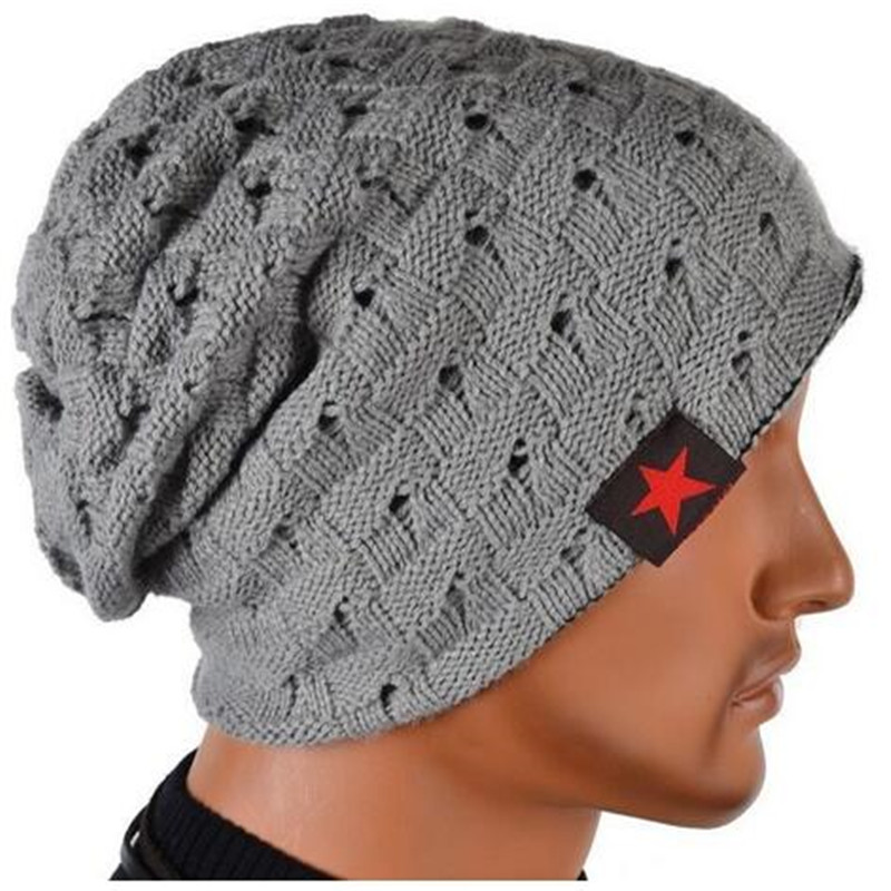 Knitting Hat Beanies Baggy Knit-Caps Female Women Winter Ladies for Reversible Warm Adjustable