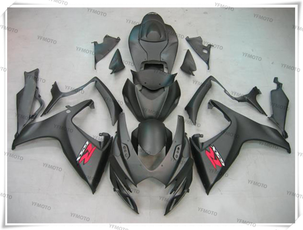 Motorcycle ABS Matte black Fairing Body Work  Cowling For SUZUKI GSXR600-750 GSXR 600 750 K6 2006-2007 +4 Gift new motorcycle ram air intake tube duct for suzuki gsxr600 gsxr750 2006 2007 k6 abs plastic black