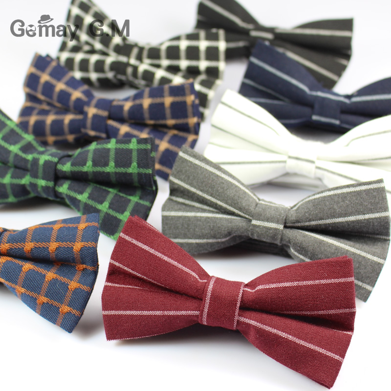 Fashion Mens Bowtie Classic Mens Striped Bow Tie Formal Wear Business Suit Bowknots Ties Male Cotton Skinny Slim Ties Butterfly