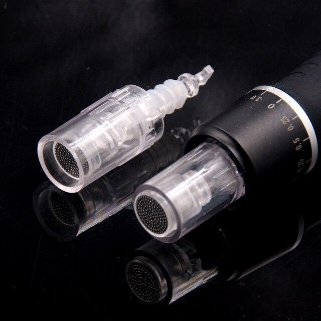 50 stks/pak Nano Pin Naald Cartridge Bajonet Poort voor Elektrische Auto Microneedle Derma Pen Tip Voeding Ingang
