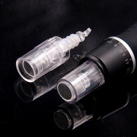 50 unidades pacote nano pino agulha cartucho baioneta porto para o automovel eletrico microneedle derma