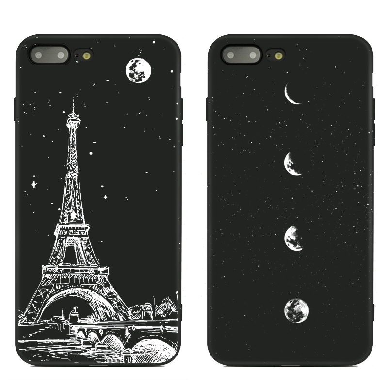 Nuevo estilo The Night Series Funda simple para teléfono para iPhone - Accesorios y repuestos para celulares