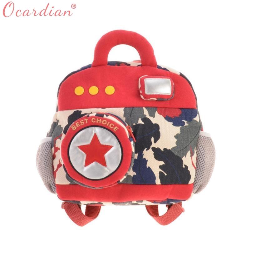 OCARDIAN New Style School Kindergarten Childrens School Bags Backpack Camera Bag Child Creative for Kids Green 4 Color O24