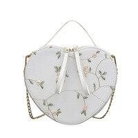 Fashion Design Heart Bag Women Shoulder Bag PU Leather Messenger Crossbody Bags 2019 Casual Girls Chic Handbag with Scarf Handle