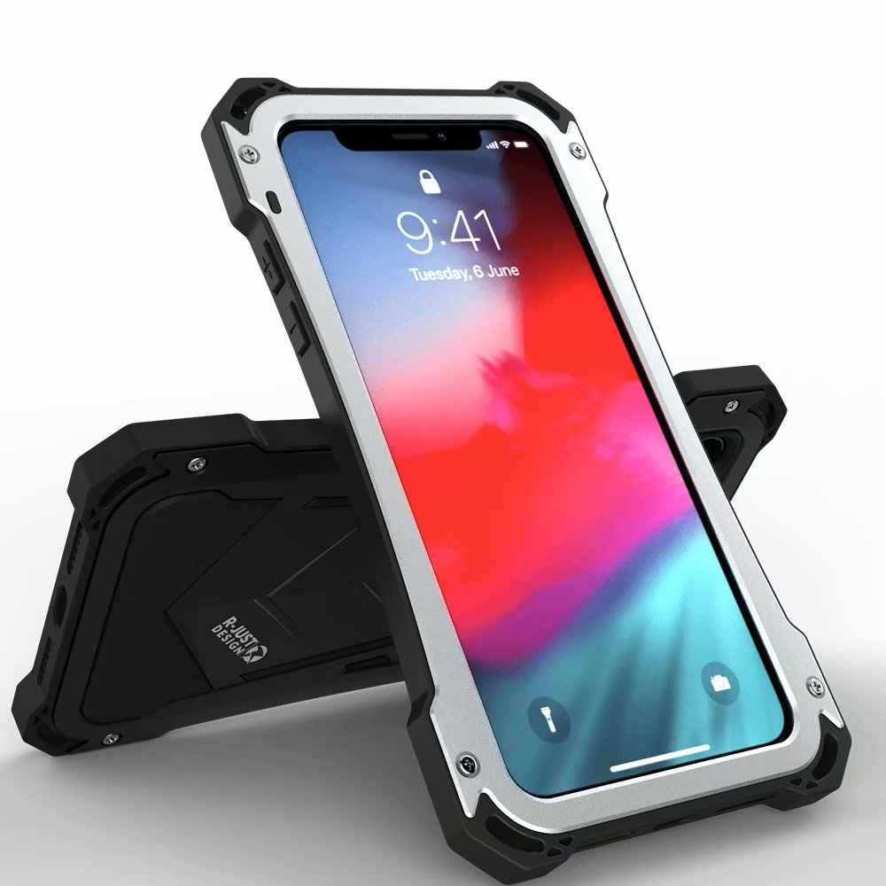 R JUST Metal Case Mechanical Armor Aluminum Back Cover High ...